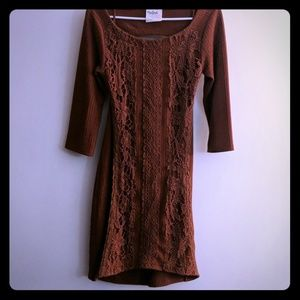 Free People Open Back Textured Dress